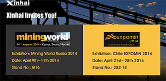 Xinhai Attends Russia and Chile Mining Exhibition