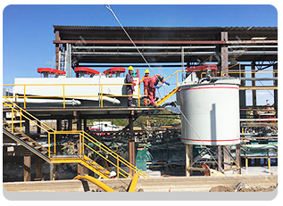 Mexico 1500tpd Au-Ag-Cu-Pb-Zn Ore Dressing Project