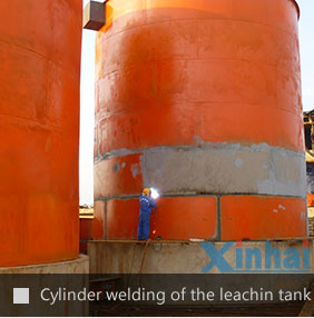 Cylinder welding of the leachin tank