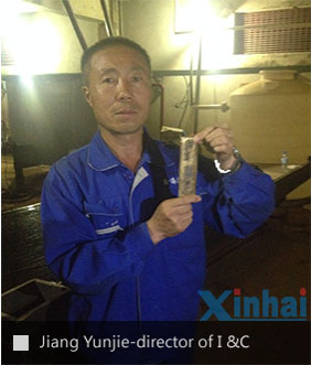 Jiang Yunjie from installation and commissioning department of Xinhai