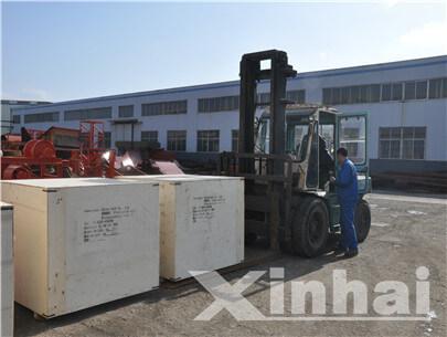 Equipos de minería fabricado por Xinhai estaban a punto de empaquetar y enviar.