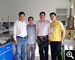 Vietnam customer in Xinhai mineral dressing lab