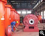 Leaching tanks and ball mills