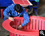 Bonding the rubber liners for equipment