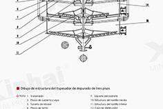 La-estructura-del-espesante-de-fregado-de-tres-pisos
