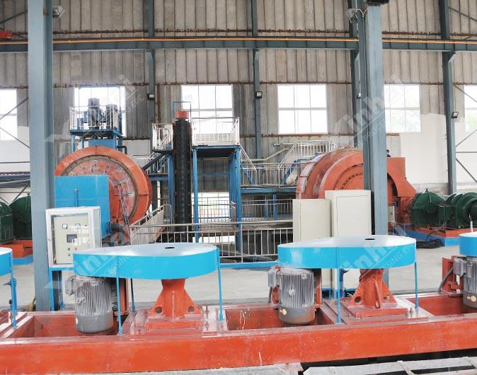 Planta de procesamiento de minerales de flotación de oro de 1000tpd en Shandong