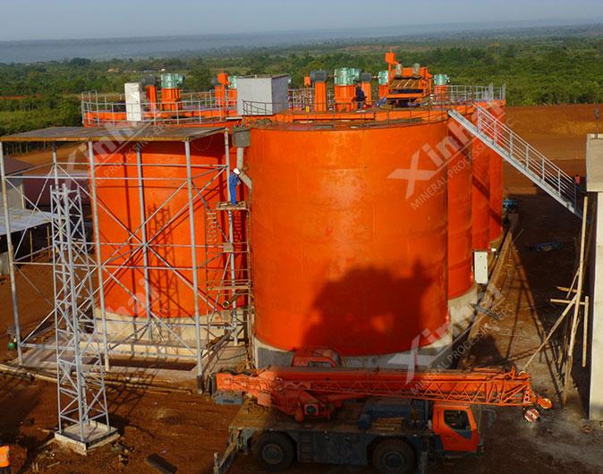 Planta de procesamiento de minerales oro de 1200tpd en Tanzania