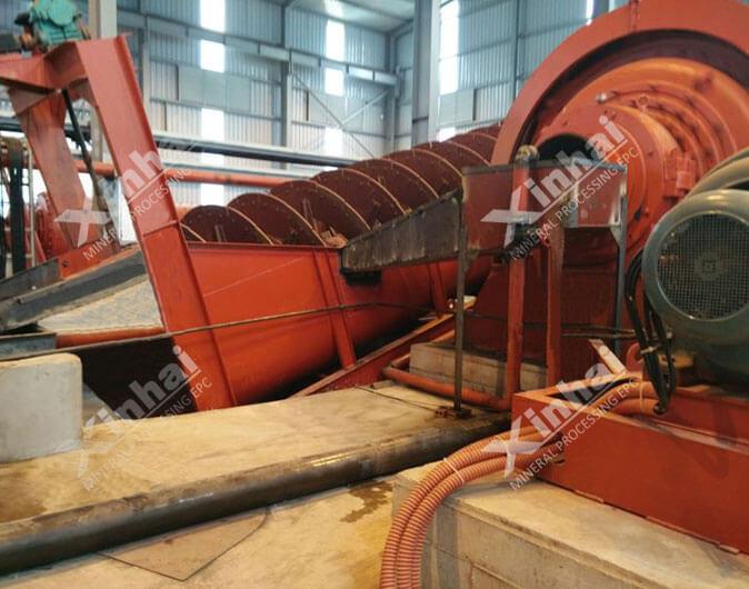 Planta de procesamiento de minerales grafito de 800tpd en Vietnam