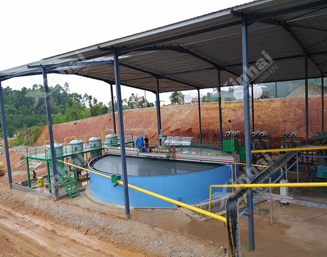 Planta de procesamiento de minerales oro de 700tpd en Malasia